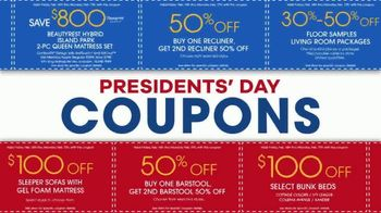 Rooms to Go Presidents Day Sale TV Spot, 'Extra Savings and Bonus Coupons' - Thumbnail 3