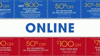 Rooms to Go Presidents Day Sale TV Spot, 'Extra Savings and Bonus Coupons' - Thumbnail 4
