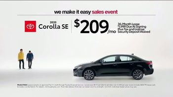 Toyota We Make It Easy Sales Event TV Spot, 'No Hoopla' [T2] - Thumbnail 1