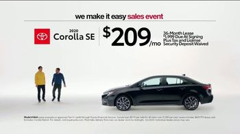 Toyota We Make It Easy Sales Event TV Spot, 'No Hoopla' [T2] - Thumbnail 3