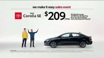 Toyota We Make It Easy Sales Event TV Spot, 'No Hoopla' [T2] - Thumbnail 4