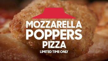 Pizza Hut Mozzarella Poppers Pizza TV Spot, 'Appetizer + Pizza' - Thumbnail 1