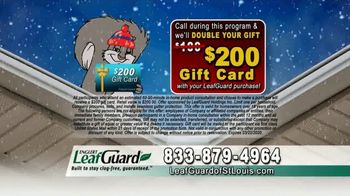 LeafGuard of St. Louis Winter Half Off Sale TV Spot, 'Tired of Old Clogged Up Gutters: Gas Card' - Thumbnail 9