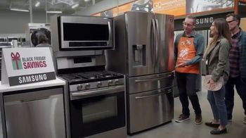 The Home Depot Black Friday Savings TV Spot, 'Right Away: Whirlpool Stainless Steel Kitchen Package'