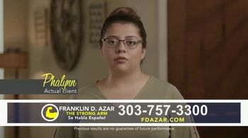 Franklin D. Azar & Associates, P.C. TV Spot, \'Actual Client: Phalynn\'