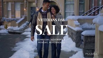 JoS. A. Bank Veterans Day Sale TV Spot, 'Up to 60 Percent Off' - 557 commercial airings