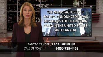 Moore Law Group TV Spot, 'Zantac Cancer Helpline'