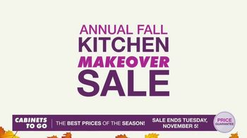 Cabinets To Go Annual Fall Kitchen Makeover Sale TV Spot, 'Extended'