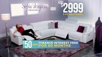 Holiday Sale: Sofia Vergara Collection: Leather Sectional thumbnail
