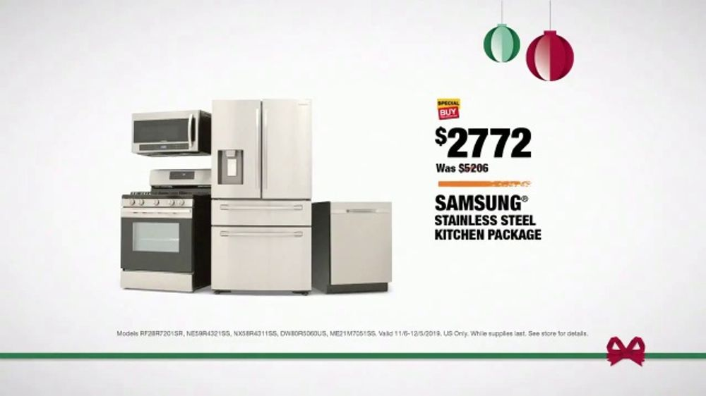 The Home Depot Black Friday Savings Tv Commercial Right Away Samsung Stainless Steel Kitchen Package Ispot Tv