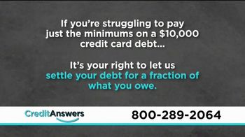 CreditAnswers Debt Rescue Program TV Spot, 'Settle Debt for a Fraction'