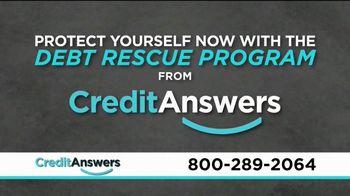 CreditAnswers Debt Rescue Program TV Spot, 'Settle Debt for a Fraction'