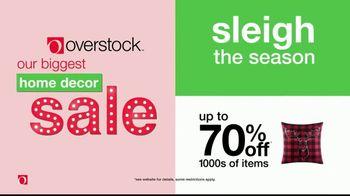 Overstock Home Decor Sale TV Spot, 'Sleigh the Season'