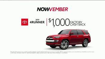 Toyota Nowvember Sales Event TV Spot, '2019 4Runner' [T2] - Thumbnail 3