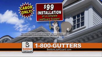 Beldon LeafGuard $99 Installation Sale TV Spot, \'From the Roof to the Foundation\'
