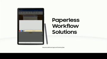 Samsung Tab S6 TV Spot, 'Paperless Workflow Solutions: Electronic Singature' - Thumbnail 6