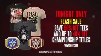 WWE Shop TV Spot, 'Holidays: 50% Off Tees and 40% Off Championship Titles' - 8 commercial airings