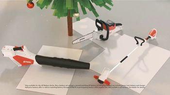 STIHL TV Spot, 'Holidays: Hard to Wrap, Easy to Give: Battery Set' - Thumbnail 7