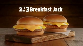 Jack in the Box 2 for $3 Breakfast Jacks TV Spot, 'Early Bird' - Thumbnail 2