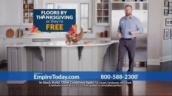 Empire Today TV Spot, 'Floors by Thanksgiving' - 32 commercial airings