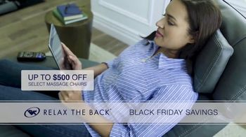 Relax the Back Black Friday Savings TV Spot, 'Celebrate Early: $500 Off Chairs' - Thumbnail 4