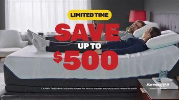 Mattress Firm Presidents Day Sale TV Spot, 'Save Up to $500 Plus $300 Bonus Cash'