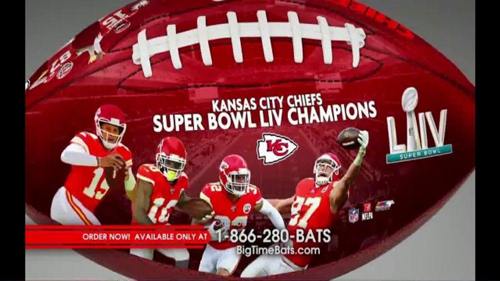 Big Time Bats TV Commercial, 'KC Chiefs Super Bowl LIV Champions Art Football'