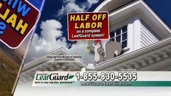 LeafGuard Nashville Winter Half Off Sale TV Spot, 'Half Off Labor' - Thumbnail 5