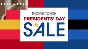 Rooms to Go Presidents' Day Sale TV Spot, 'Living Rooms, Bedrooms & Dining Rooms'