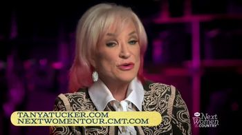 Country Music Television Bring My Flowers Now Tour TV Spot, 'Tanya Tucker' - 96 commercial airings