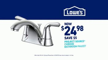 Lowe's Bath Savings Event TV Spot, 'Sanctuary: Faucets' - Thumbnail 9