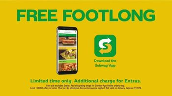 Subway TV Spot, 'Free Footlong' - Thumbnail 2