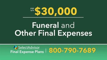 Select Advisor TV Spot, 'Final Expense Plans: Up to $30,000' - Thumbnail 4