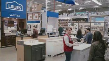 Lowe's Bath Savings Event TV Spot, 'Refreshing Bath Updates: Valspar Paint'