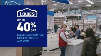 Lowe's Bath Savings Event TV Spot, 'Refreshing Bath Updates: Valspar Paint' - Thumbnail 6