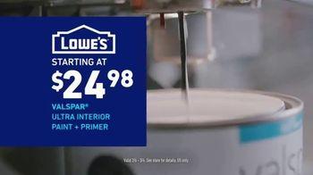 Lowe's Bath Savings Event TV Spot, 'Refreshing Bath Updates: Valspar Paint' - Thumbnail 7