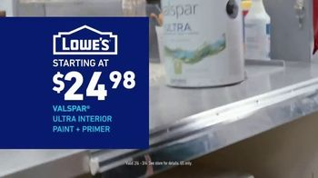 Lowe's Bath Savings Event TV Spot, 'Refreshing Bath Updates: Valspar Paint' - Thumbnail 8