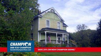 Champion Windows TV Spot, 'Transform Your Home: 20 Percent'