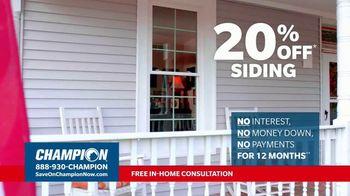 Champion Windows TV Spot, 'Transform Your Home: 20 Percent' - Thumbnail 4