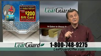 LeafGuard Winter Half Off Sale TV Spot, 'What's In Your Gutters: $25 Gas Card' - Thumbnail 9