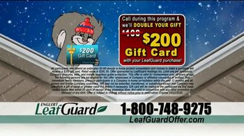 LeafGuard Winter Half Off Sale TV Spot, 'What's In Your Gutters: $25 Gas Card' - Thumbnail 8