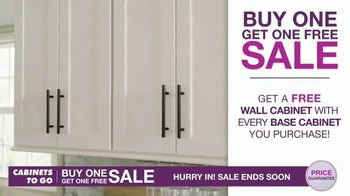 Cabinets To Go Buy One Get One Free Sale TV Spot, 'New Kitchen' - Thumbnail 3