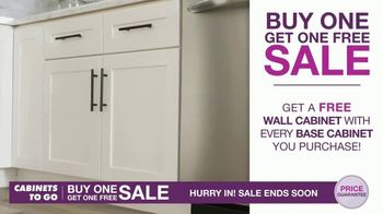Cabinets To Go Buy One Get One Free Sale TV Spot, 'New Kitchen' - Thumbnail 4
