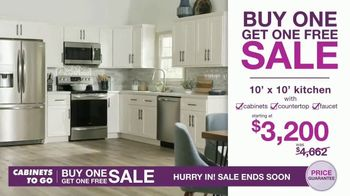 Cabinets To Go Buy One Get One Free Sale TV Spot, \'New Kitchen\'