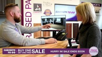 Cabinets To Go Buy One Get One Free Sale TV Spot, 'New Kitchen' - Thumbnail 9