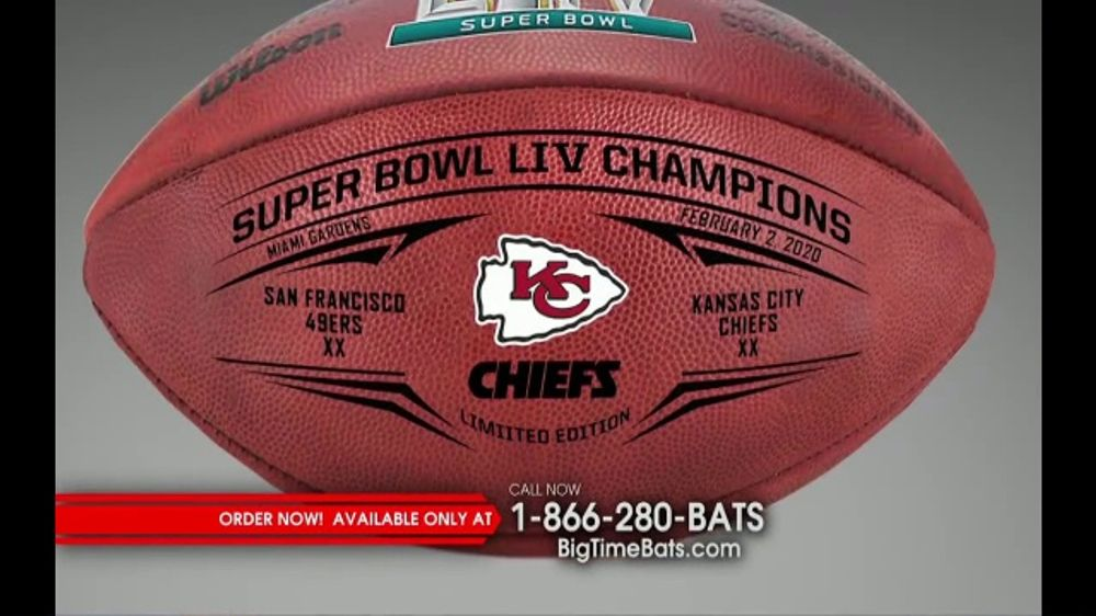 Big Time Bats TV Commercial, 'Chiefs Super Bowl LIV Champions Wilson Leather Duke Game Ball'