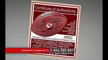 Big Time Bats TV Spot, 'Chiefs Super Bowl LIV Champions Wilson Leather Duke Game Ball' - Thumbnail 3