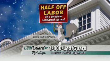 LeafGuard of Michigan Winter Half Off Sale TV Spot, 'Less Maintenance' - Thumbnail 7