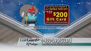 LeafGuard of Michigan Winter Half Off Sale TV Spot, 'Less Maintenance' - Thumbnail 8