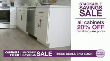 Cabinets To Go Stackable Savings Sale TV Spot, 'Get More Kitchen'